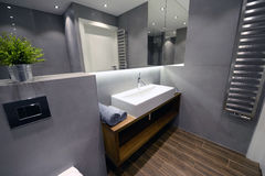 Hotel or apartment bathroom Stock Images