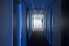 Hotel or apartment block corridor Stock Images