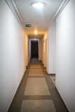 Hotel or apartment block corridor Royalty Free Stock Photography