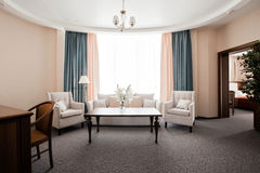 Hotel apartment, living room interior in the morning Royalty Free Stock Images