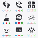 Hotel, apartment services icons. Coffee sign Stock Photo