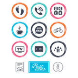 Hotel, apartment services icons. Coffee sign. Stock Images