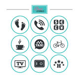 Hotel, apartment services icons. Coffee sign. Stock Photography