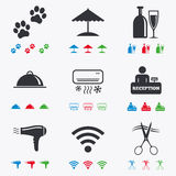 Hotel, apartment services icons. Wifi sign Royalty Free Stock Photo