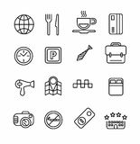 Hotel or apartments and travel icon Stock Images