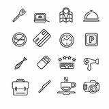 Hotel or apartments and travel icon Stock Photo