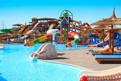 Hotel aquapark Stock Photography