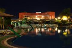 Hotel ar night Royalty Free Stock Photography