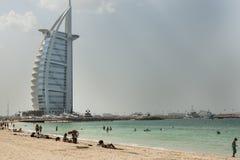 Hotel arabo di Al di Burj in Doubai Fotografia Stock Libera da Diritti