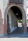 Hotel Arch. Archway for a hotel in Yuma, arizona stock photography