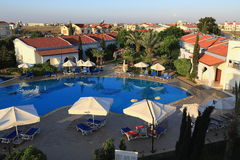 The hotel areal Crystal Rocks, Salamis, Northern Cypru Royalty Free Stock Image