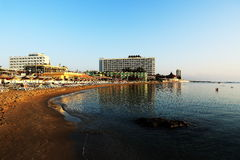 The hotel areal, Salamis, Northern Cypru Royalty Free Stock Photo