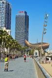 Hotel Arts and Torre Mapfre in Barcelona, Spain Royalty Free Stock Images