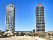 Hotel Arts and Torre Mapfre Royalty Free Stock Images