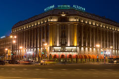 Hotel `Astoria` close-up to the May night. Saint Petersburg Royalty Free Stock Photography