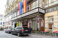 Hotel Astoria en Viena céntrica, Austria foto de archivo