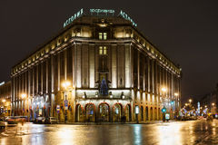 Hotel Astoria in 1 Januari, 2015 in St. Petersburg, Rusland Stock Afbeelding