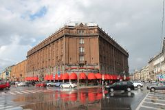 Hotel `Astoria`. St. Isaac`s Square. St. Petersburg. royalty free stock images