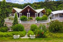 Hotel At Tropical Island, Seychelles Stock Photo