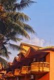 Hotel außen in Goa Lizenzfreies Stockbild