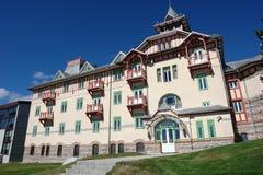 Hotel auf dem Strbske Pleso. Stockbilder