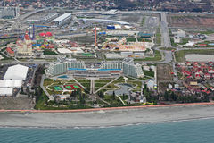 Hotel Azimut Resort & SPA and Sochi Park Stock Images