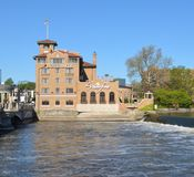 Hotel Baker. This is a Spring picture of Hotel Baker located on the Fox River in St. Charles, Illinois. The hotel was designed by the architects of Wolf, Sexton royalty free stock image