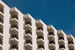 Hotel Balconies Royalty Free Stock Images