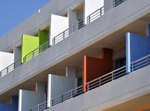 Hotel balconies Stock Images