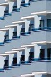 Hotel balconies Stock Photography