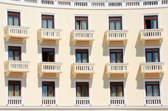 Hotel balconies in Thessalonica, Greece royalty free stock photo