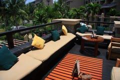 Hotel balcony Royalty Free Stock Images