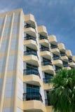 Hotel balcony. With blue window Stock Photography
