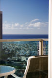 Hotel balcony view Royalty Free Stock Images