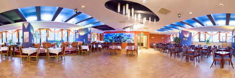 Hotel ballroom panorama Stock Photography
