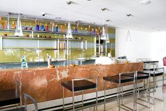 Hotel Bar. Image of an empty hotel bar stock photo