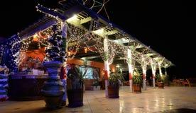 Hotel bar at night Royalty Free Stock Photos