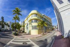 Hotel The Barbizon in Miami Beachg Stock Photos