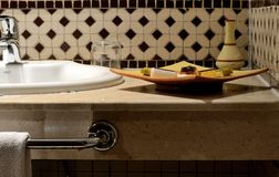 Hotel bathroom. In Marrakesh Morocco Royalty Free Stock Photos