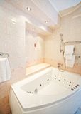 Hotel bathroom interior Stock Photos
