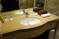 Hotel bathroom interior. A bathroom layout interior . in china Stock Images
