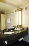 Hotel Bathroom at Night. Photo of an hotel bathroom at night Royalty Free Stock Photography