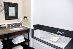 Hotel bathroom in old style Stock Photo