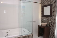 Hotel Bathroom. View of a hotel bathroom Royalty Free Stock Photography