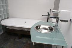Hotel Bathroom. View of a hotel bathroom Stock Photos