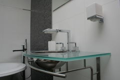 Hotel Bathroom. View of a hotel bathroom Stock Photo