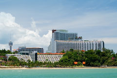 Hotel on the beach 2. Hotel on the beach in Pataya, Thailand Royalty Free Stock Image