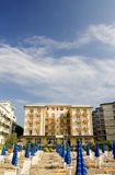 Hotel on the beach. In Italy Royalty Free Stock Photography
