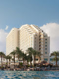 Hotel and beach are on Red sea. Stock Images