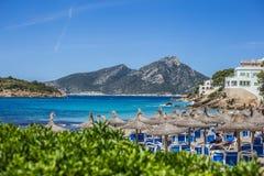 Hotel Resort at Mallorcas Coast. Hotel at the beach of Sant Ellm at Mallorca, Balearic Islands Stock Photography
